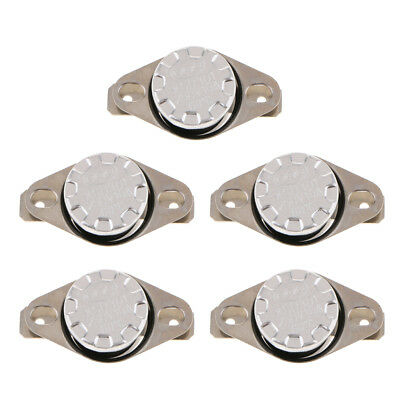 5pcs KSD301 Thermostat Normal Open 40-65 Celsius Temp Control Switch 10A250V