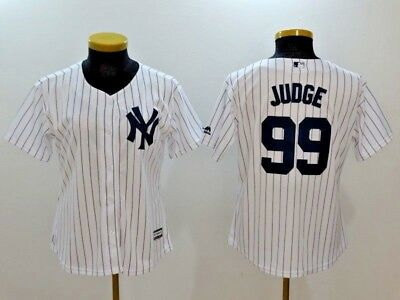Women's Aaron Judge #99 New York Yankees White MLB Cool Base Jersey (NWT)