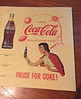 Coca Cola 1950s School Book Cover Sports Themed Copyright 1939 Paper