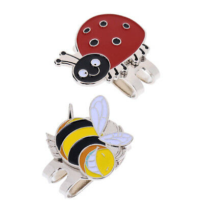 2Pcs Magnetic Hat Clips Magnetic Markers Lightweight Alloy Golf Accessories
