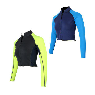2mm Neoprene Women Ladies Long Sleeve Warm Wetsuit Jacket Dive Surfing Suit