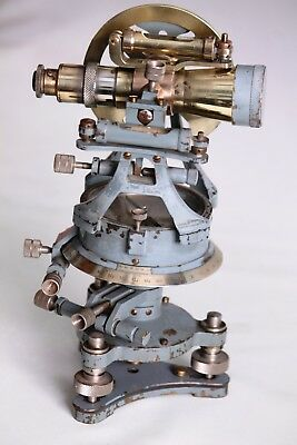 Transit early 20th Century surveying theodolite and compass