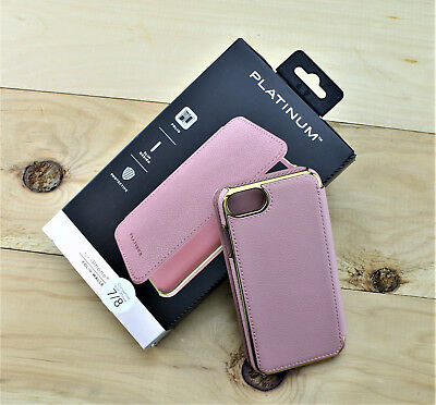 huge selection of d17de 7e78f PLATINUM™ - LEATHER Folio Wallet Case for Apple® iPhone® 7 / iPhone® 8 -  Pink