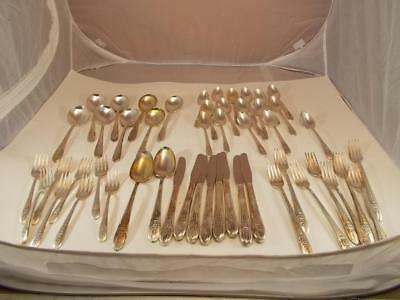 Vintage 1941 WM Rogers Mfg Extra Plate Silverware Triumph 50 Pc 8 Placesettings