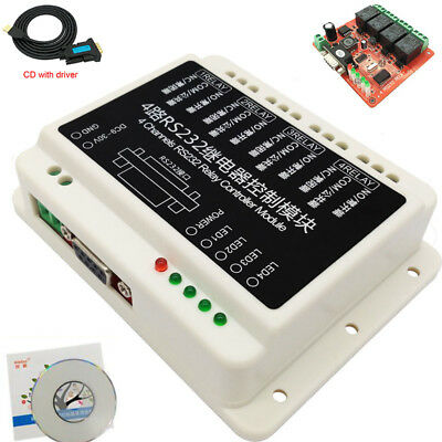 USB 9-30V DC 2/4/8/16 Channel RS232 Relay Serial Controller Board DB9 Switch PC