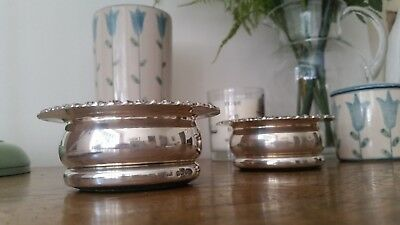 Vintage Antique Candlestick Holder Pair Immaculate Hallmarked E.J.C No Reserve