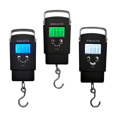 50kg LCD Display Digital Electronic Fishing Hanging Hook Scale Luggage Scale