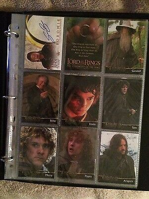 Lord Of The Rings Sean Bean Signed Boromir Card + Binder + 20 Cards Topps