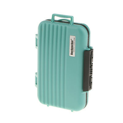 24 Slots Memory Card Case SD TF CF Holder, Waterproof Storage Box - Green