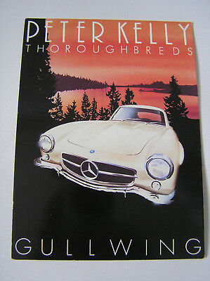 Athena - Peter Kelly Thoroughbreds MERCEDES GULLWING iconic 1950s car postcard