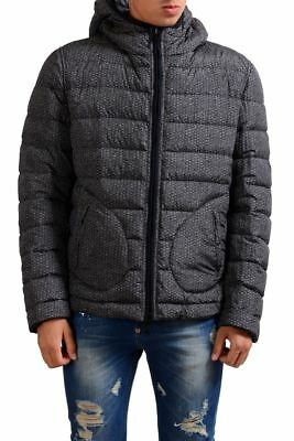 Armani Collezioni Men's Duck Down Reversible Hooded Parka Jacket US L IT 52
