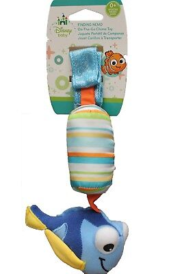 NEW Disney Baby Finding Nemo Dory Fish Plush Car Seat Stroller Chime Rattle Toy