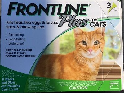 Frontline Plus Flea And Tick Control For Cats And Kittens , 8 Weeks And Older. 3