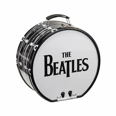 The Beatles Black & White Bass Drum Large Tin Tote Lunch Box Lunchbox Ringo