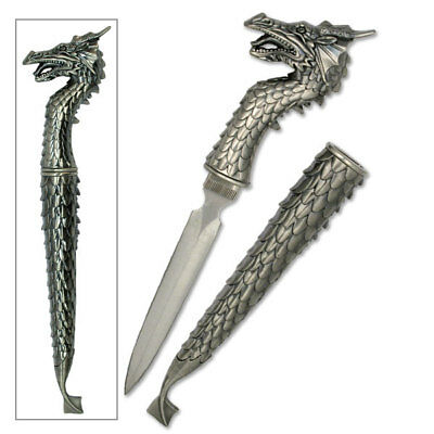 Athame  Silver Dragon Style Double Sided Blade,  Goddess, Wicca, Ritual, Witch
