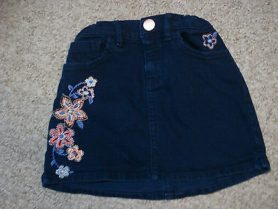 Gap Girls Decorated Denim Mini  Skirt Size 7 Regular Adjustable  Waist