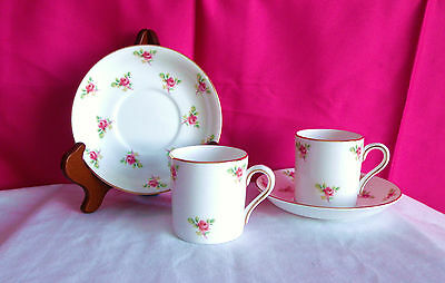Royal Grafton Cups & Saucers, Set Of 6, Pink Roses, In Mint Condition, Perfect!