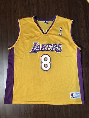 c334a3d95 VINTAGE LOS ANGELES LAKERS KOBE BRYANT LA Lakers CHAMPION JERSEY 44 MENS  RARE