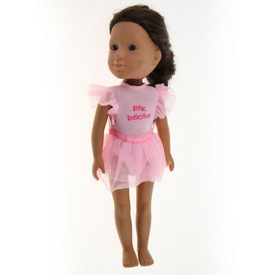 Fashion Clothes Pink Ballet Dance Dress for 14inch American Girl Doll Accs