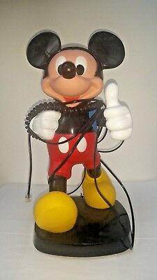 1986 Tyco 1245 Walt Disney Backpack Mickey Mouse Tone/Pulse Telephone