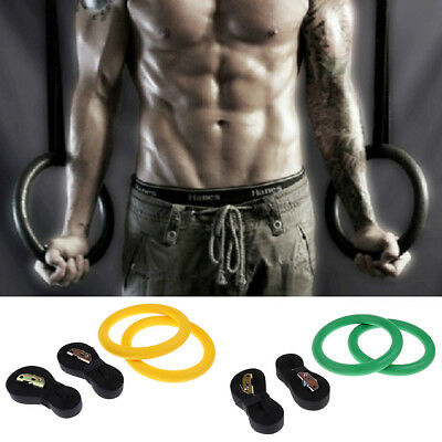 Workout Rings Olympic Exercise Fitness Gymnastic Rings with Flexible Buckles
