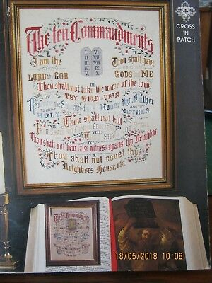 The Ten Commandments Crossstitch Pattern Charted For Dmc Threads