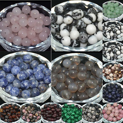 Fashion Natural Stone Gemstone Round Spacer Loose Beads 4mm 6mm 8mm 10mm Jewelry