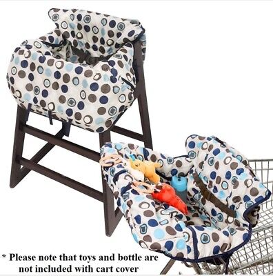 NEW Grocery 2 in 1 Shopping Cart / High Chair Cover Washable Wipeable Baby