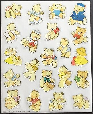 American Greetings Adorable!! Vintage Sheet of Stickers