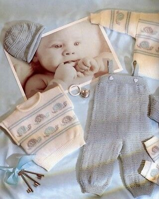 Baby Knitting Pattern copy 4 ply 7 piece clothing for Babies