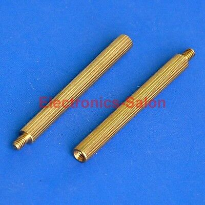 500pcs 30mm Threaded M2 Brass Male-Female Standoff, Spacer.