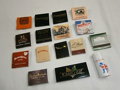 Lot of 16 Las Vegas & Nevada Matchbooks and Matchsticks - Most are full