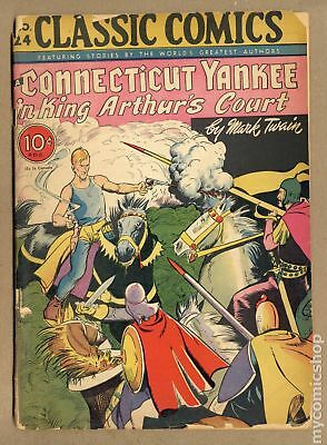 Classics Illustrated 024 A Yankee in King Arthur's Court #1 1945 FR 1.0