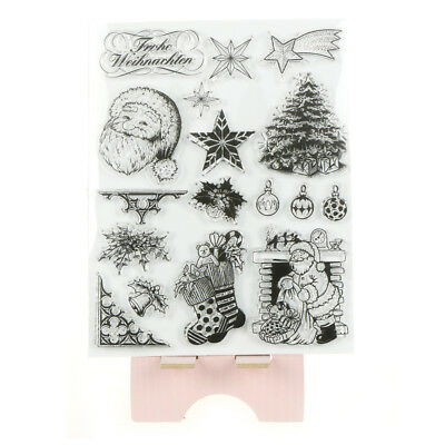 Xmas Transparent Clear Silicone Rubber Stamp Cling Diary Scrapbooking Card OXDE