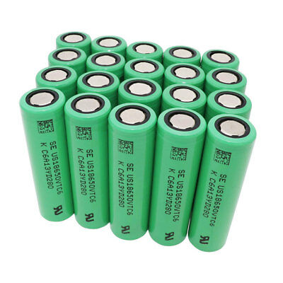 18650 Batterie 3.7V Rechargeable 3000mAh Li-ion Battery High Drain Flat Top VTC6