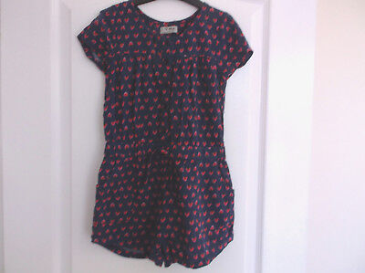 Girls Next Navy and Strawberry Summer Playsuit Age 6 Years