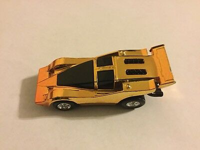 1977 Mego Speed Burners Gold Car Working and Nice Looking