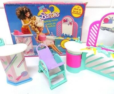 Barbie 8377 Super Style Styling Center Playset Vintage 1988 Mattel