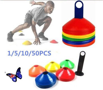 1-50 Pack Fitness Exercise Sports Training Discs Markers Cones Soccer Rugby ON