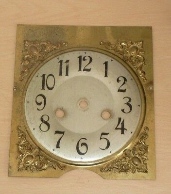 Brass dial with spandrels from 1920's bracket mantel clock