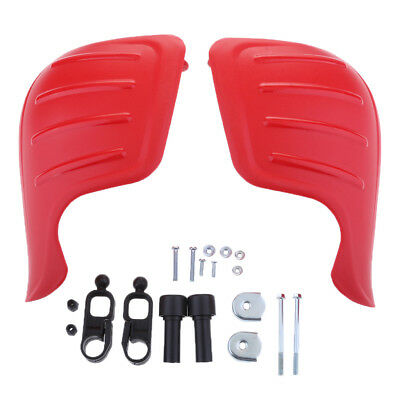 """7/8"""" 22mm Handle Bar Hand Guards for Motocross Motorcycle Red"""