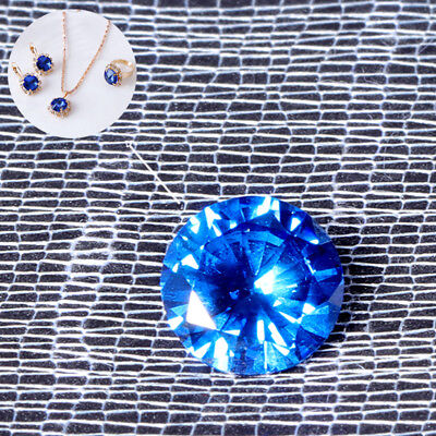Sea Blue Sapphire Round Faceted Cut Shape AAAAA VVS Loose Gemstone 8mm 3.25ct