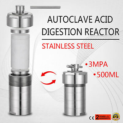 500mL Hydrothermal Synthesis Autoclave Reactor 19LBS Anti-leakage Seal Structure