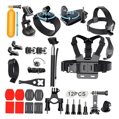 32 in 1 Surfing Accessories Kit + Case For GoPro HD Hero 6 5 4 3+ 3 2 Camera