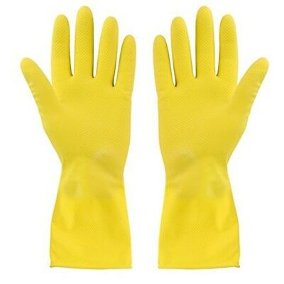 Elliott Small Rubber Gloves, Yellow - Gloves Hand Cleaning New