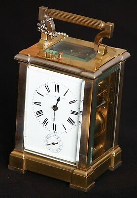 Very fine made by Enrique Mans Erger Repeating Carriage Clock.