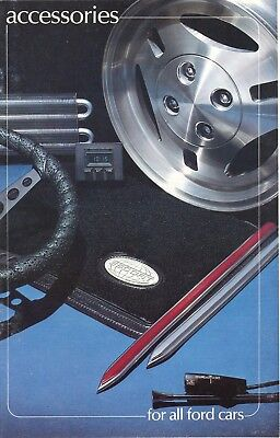 1981 Ford Mustang Fairmont LTD Thunderbird Auto Accessories Sales Brochure