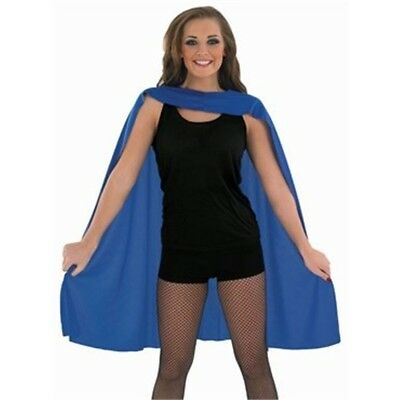 Blue Adults Superhero Cape - Adult Fancy Dress Costume Man Comic Outfit One Size