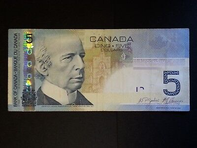 Canada $5 Five Dollar Banknote 2009 P-101Ac Signature Jenkins Carney