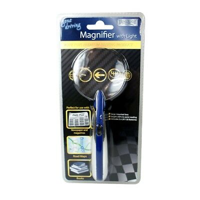 Magnifier With Bright Light - Boyz Toys Ry658 New Magnifying Glass LED